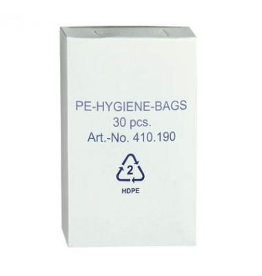 Hygienebeutel HDPE weiß Nachfüllbox, 30 Stk.