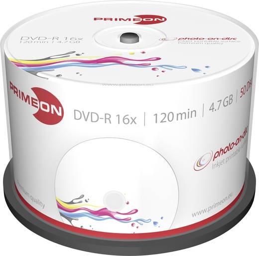 DVD-R 4,7GB 16-fach 120min.Inkjet bedruckbar, 50 Stk.