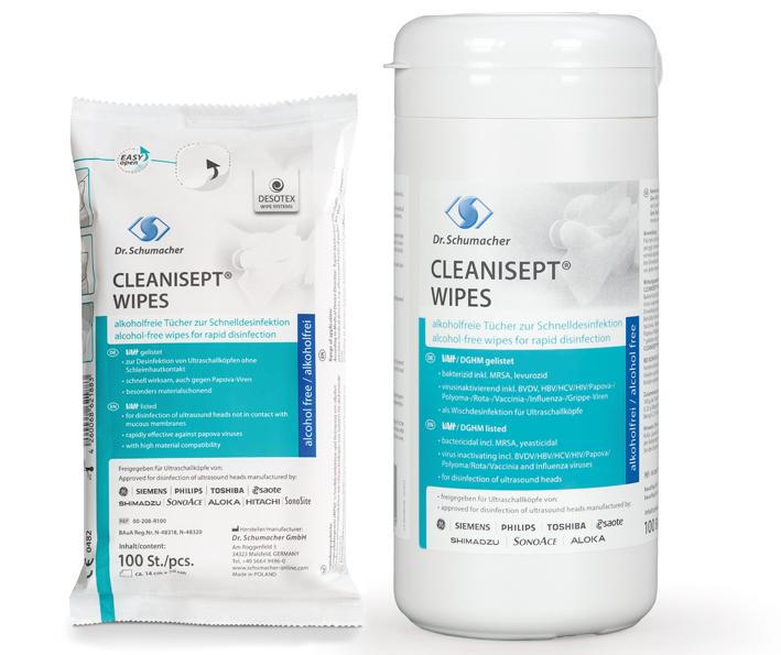 Cleanisept Wipes für Flächen Nachfüllpckg., 100 Stk