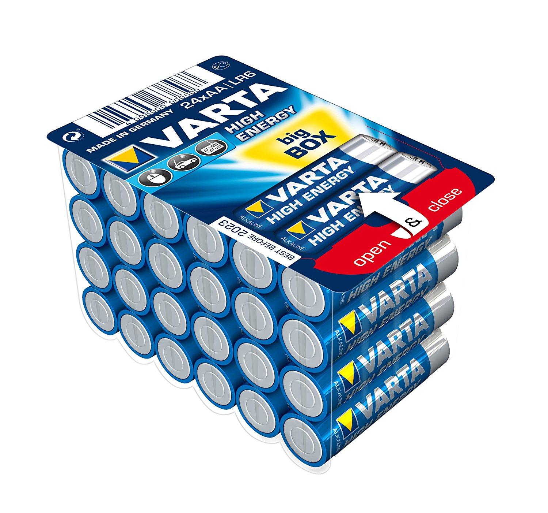 Varta Batterien Mignon LR6 AA 1,5V, 24 Stk.