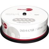 DVD-R 4,7GB 16-fach 120min.Inkjet bedruckbar Spindel, 25 Stk