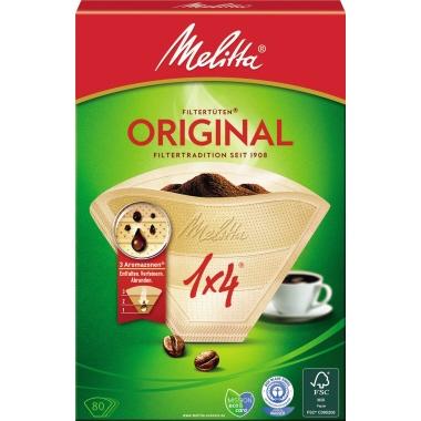 Melitta Kaffeefilter 1x4 naturbraun, 80 Stk.