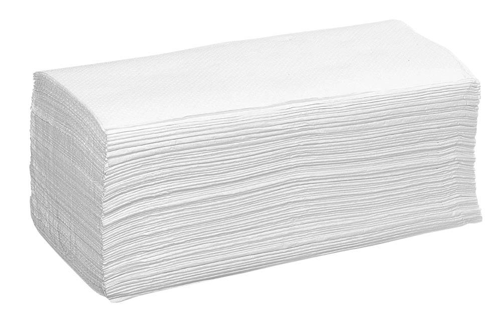 E-Handtücher Top33 23x33cm hochweiß,2-lg., 2400 Stk.
