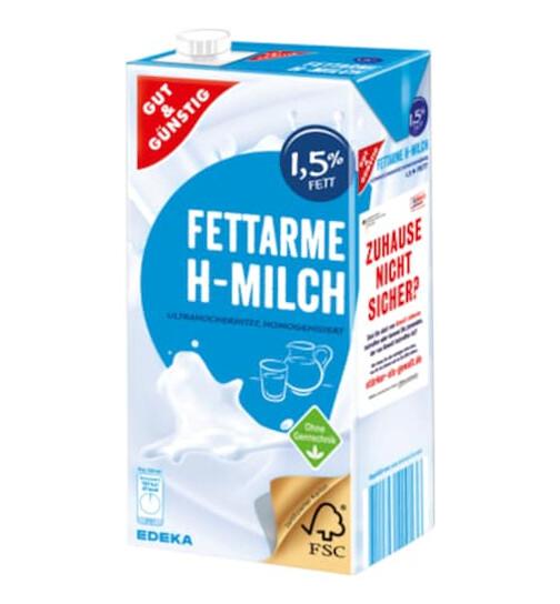 H-Milch 1,5% mit Lactose, 1 L
