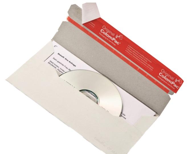 CD-Brief DL mit Fenster, Vollpappe weiß 221x123mm, 160 Stk.