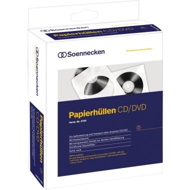 CD/DVD Einzelhüllen Papier, 100 Stk.
