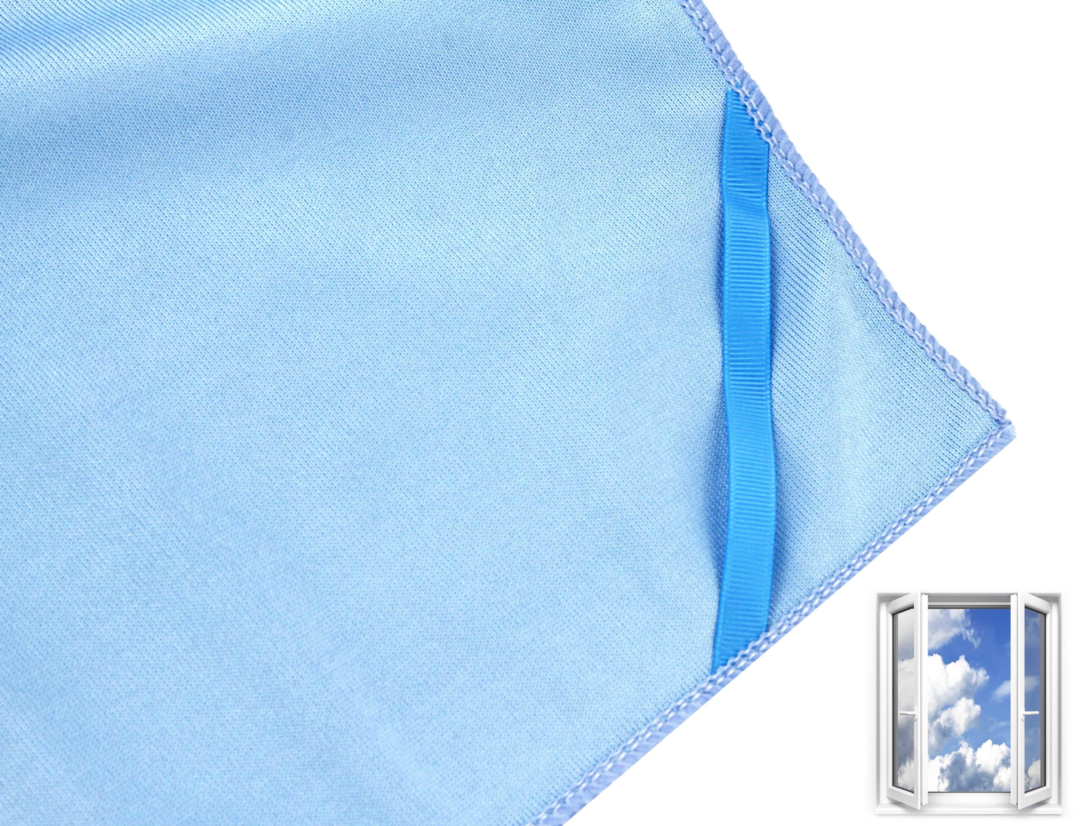 """Microfaser """"Glas-& Fenstertuch XL"""" 50x70cm blau, 1 Stk."""