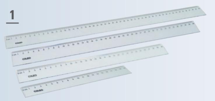 Lineal 30cm Kunststoff transparent
