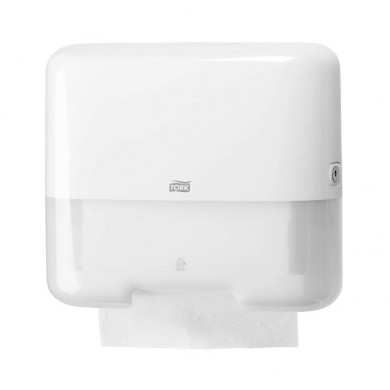 Falthandtuchspender Tork Mini H3 weiß Kunststoff