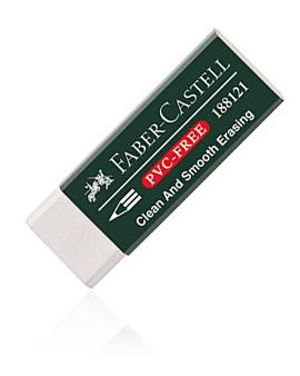 Faber Castell Radierer Vinyl Eraser 7081N Kunststoff weiß