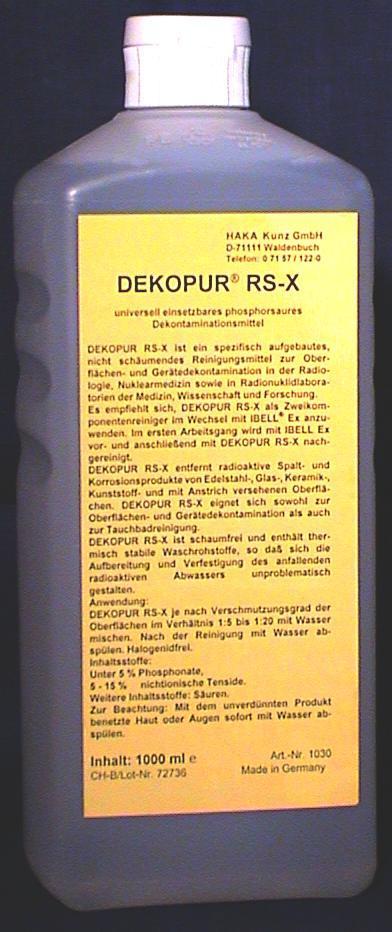 Dekopur RS-X Dekontaminationsmittel, 1 L