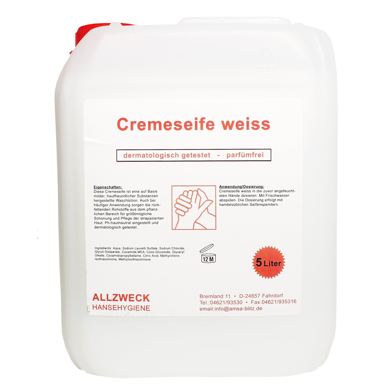 Cremeseife Weiß, 5 L