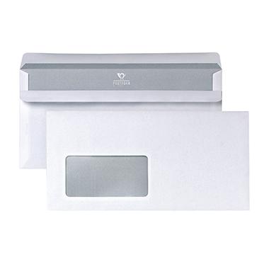 Briefumschläge DIN lang mit Fenster weiß SK, 1000 Stk.