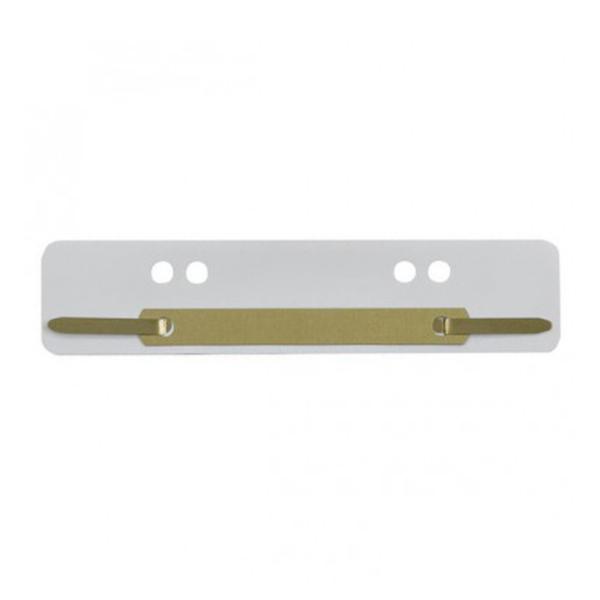 Heftstreifen 34x150mm weiß PP Metalldeckleiste, 25 Stk