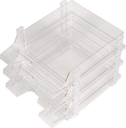 Briefablage Helit 3er-Einheit transparent ausziehbar
