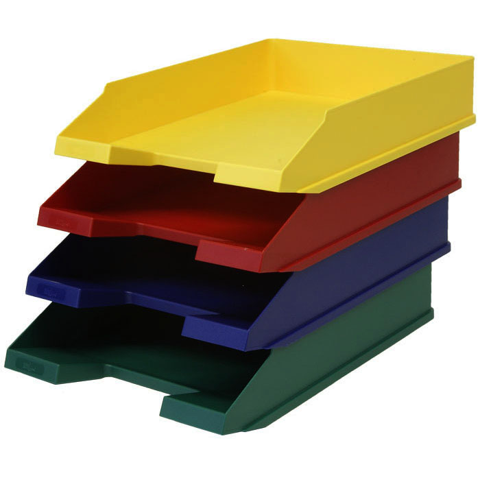 Briefkorb Klassik A4 vollfarbig rot
