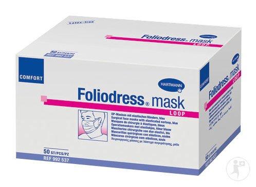 Foliodress mask Comfort Loop blau, 50 Stk.