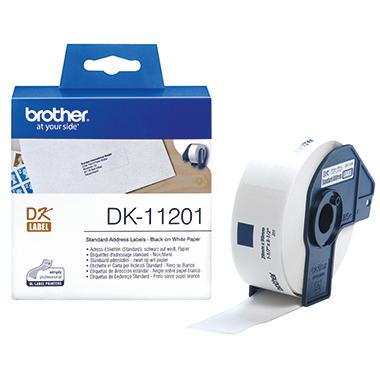 Brother Etiketten DK 29x90mm weiß Rolle, 400 Stk.