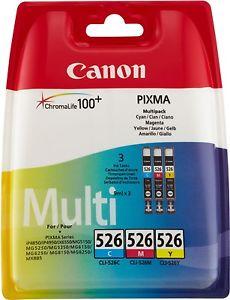 Canon Tintenpatrone CLI526Z farbig, 3x9 ml