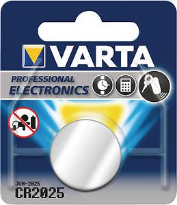 Varta Knopfzellenbatterie CR2025 Lithium 3V
