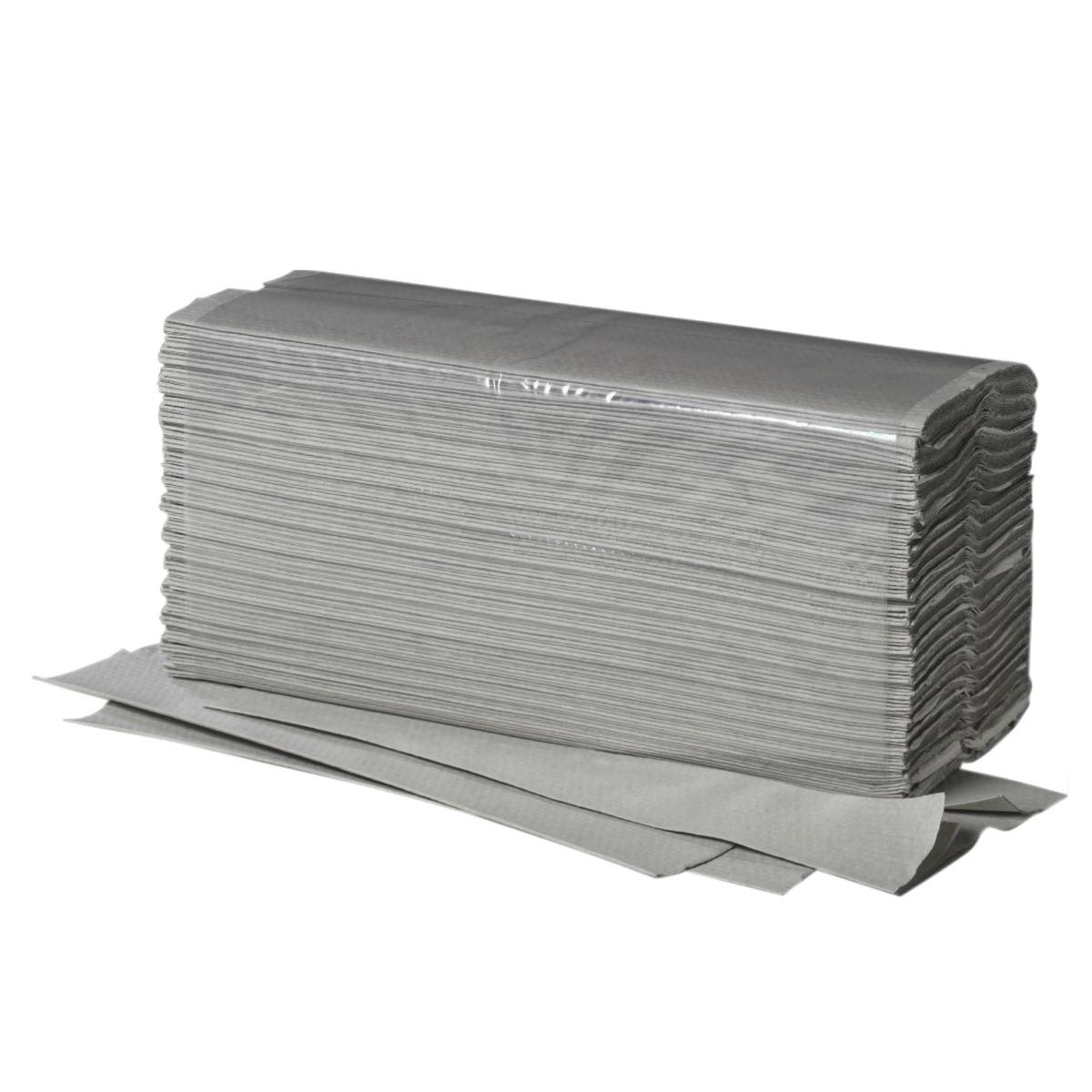 E-Handtücher Fripa Plus 25x33cm 1-lg,C-Falz grau, 3120Stk,