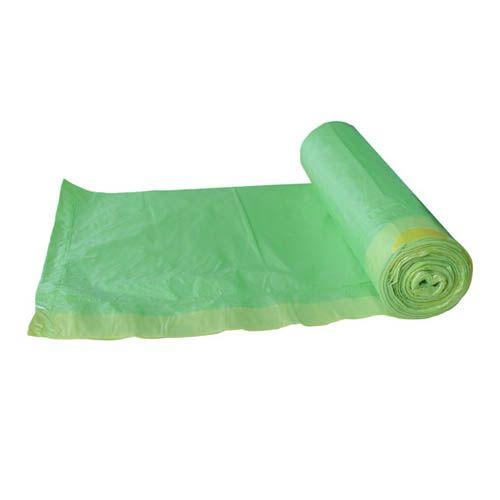 Müllbeutel 60l grün 63x74cm mit Zugband, 20 Stk.