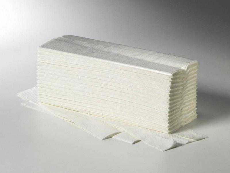 E-Handtücher Fripa 25 x 33cm 2-lg.C-Falz weiß, 3072Stk,